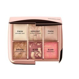 Dropshipping 2018 Hourglass 6 cor paleta de blush rosto highlighter contorno ampulheta blush cosméticos paleta de alta qualidade
