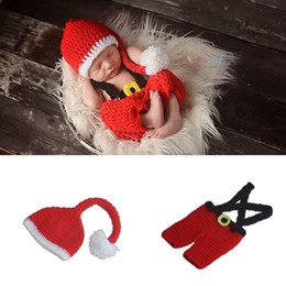 $enCountryForm.capitalKeyWord NZ - Newborn Baby Girl Boy Crochet Knit Costume Photo Photography Prop Christmas Hats Pants Outfits