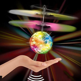 $enCountryForm.capitalKeyWord Australia - RC Drone Flying Ball Aircraft Helicopter Led Flashing Light Up Toys Induction Electric Toy Drone For Kids Children Christmas gifts