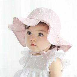 Baby Cotton Sunhats NZ - Toddler Infant Kids Soft Cotton Sun Cap Summer Outdoor Breathable Hats Baby Girls Boys Beach Sunhat Suit for 1-4 Years Old kids