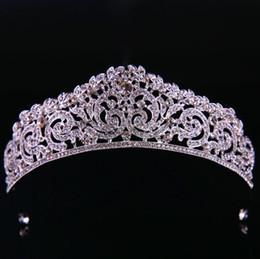 $enCountryForm.capitalKeyWord Australia - Classic bridal headwear silver crown bridal crown wedding accessories