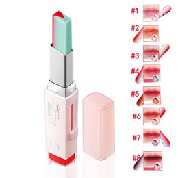 $enCountryForm.capitalKeyWord Canada - Fashion Korean Bite Lipstick V Cutting Two Tone Tint Silky Moisturzing Nourishing Lipsticks Balm Lip Cosmetic