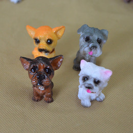 Living fairy online shopping - 12 Mini Dog Doll Lovely Simulation Resin Home Mix Style Cartoon Arts And Crafts Furnishing Decoration lw X