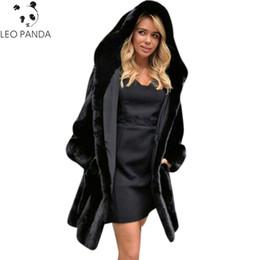 97921366308 Women Thick Eye NZ - Fur Coat Female Outerwear Mink Faux Fur Jacket Women  Winter Fashion