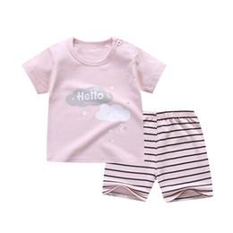 $enCountryForm.capitalKeyWord Australia - 2018 Summer Baby girl clothes Cartoon T-shirt + shorts 2PCS Suits Newborn baby girl clothing set infant outwear for 6-24 month