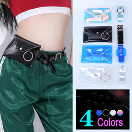red black hip hop costumes 2019 - Jazz Dance Costumes Fashion Transparent Pocket Hip Hop Show Accessories Personalized Belt Nightclub Performance Clothing