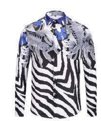 $enCountryForm.capitalKeyWord Canada - Europe and the United States explosion models new 3D striped fish-shaped digital printing men's shirt fashion shirt men's comforta