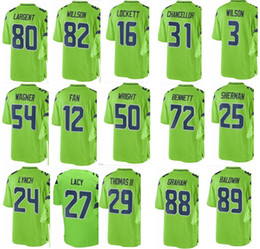 SEAHAWK Seattle  3 Russell Wilson  54 Bobby Wagner  12 Fan  89 Doug Baldwin   29  17  31 Men Women Youth Color Rush Elite Football Jerseys 74004c6f1