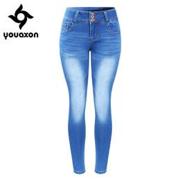 $enCountryForm.capitalKeyWord Canada - 2143 Youaxon New Arrived Plus Size Faded Jeans For Women Stretchy Five Pockets Denim Skinny Pants TrousersY1882501