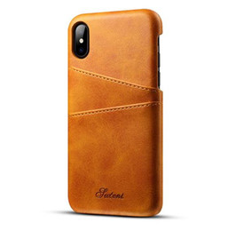 Wholesale iphone8 cases resale online - Handset shell card collection protection case for iphone Plus s X Samsung Galaxy S8 S9 leather iphone8 anti drop card Wallet case