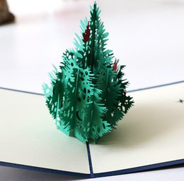 Christmas Stereos NZ - 3D Stereo Creative Holidays Handmade Greeting Card Three-dimensional Christmas tree greeting card15*15cm