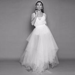 b1c9c442f1 Volantes asimétricos faldas de tul nupciales 2018 Falda semitransparente  abombada con tutú Mujer Faldas Mujer Moda Falda tutú de dama de honor