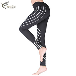 Discount sexy yoga pants for women - Freeskin Women Reflective Sports Pants Fast Dry Gym Workout Clothes For Women Yoga Leggings Sexy Running and Fitness Pan