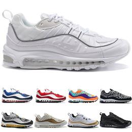 sports hiking 2019 - 98 Mens Running Shoes 98s AOP Cone Gundam Triple Black White Tour Yellow Racer Blue Cheap Men Run Athletic Sport Sneaker