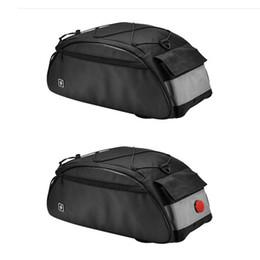 Опт Велосипедная сумка 10L велосипед задняя стойка сумка велосипед полка утилита плеча пакет езда поставки со светом