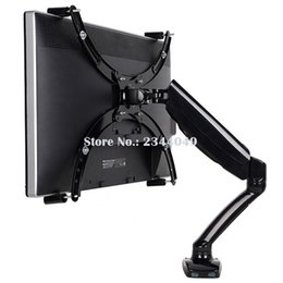 """China Loctek D5V Gas Spring Full Motion Desktop 10""""-27"""" LED LCD Monitor Holder For No Mounting Hole Monitor Mount Arm With USB Port supplier lcd desktop mount suppliers"""