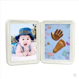 $enCountryForm.capitalKeyWord UK - Baby Hand Footprint Makers Soft Clay Baby Inkless Handprint Footprint folding photo frame DIY Souvenirs