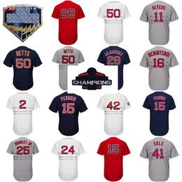 18a0e9628 Discount baseballs sale - 2018 WS Champion Patch Boston jersey 50 Mookie  Betts 41 Chris Sale