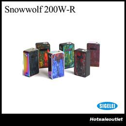 Sigelei Box Mod Original NZ - Authentic Sigelei Snowwolf 200W R 200W-R 235W TC Box MOD By Dual 18650 Batteries Vaporizer Temperature Control Mod 100% Original