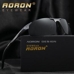 Discount aoron polarized sunglasses - AORON Aluminum Magnesium Men's Sunglasses Polarized Coating Mirror Sun Glasses oculos Male Eyewear Accessories For