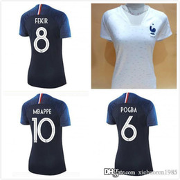 woman 2018 Mbappe World Cup jerseys POGBA GRIEZMANN KANTE Mbappe Football t  shirts 18 19 Mbappe National Team Maillot de foot de la ff6f572ef