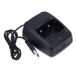1 Pc Date Walkie-Talkie Bureau Batterie Chargeur Li-ion Radio Chargeur de Batterie 100-240 v USB pour Baofeng BF- 888S Retevis H777