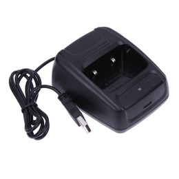 1 Stück Neueste Walkie-Talkie Desktop-Ladegerät Lithium-Ionen-Radio Ladegerät 100-240 V USB für Baofeng BF-888S Retevis H777