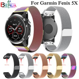garmin watches 2019 - Quick Release Milanese Loop band For Garmin Fenix 5X Plus Watch strap Stainless Steel Bracelet watchband For Garmin Feni