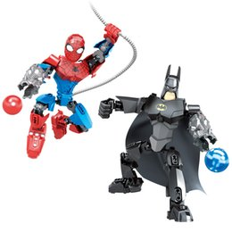 $enCountryForm.capitalKeyWord NZ - Avengers Super Hero Batman Spider-man Buildable Action Figure Movable Joint Miniature Building Block Toy Plastic Brick