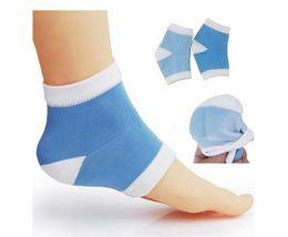 Gel de Silicone Salto Meias Hidratante Spa Meias Gel pés cuidados Cracked Pé Seco Duro Protetor de Pele Maquiagem