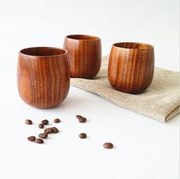Bicchiere da tè in legno in stile giapponese da 5 once Bicchieri da vino in legno naturale da 150 ml Bicchieri da caffè in legno Bicchieri da birra per succhi di frutta in Offerta