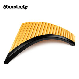 Discount abs pipe - Right Left Hand Folk Instrument UU ABS Plastic Panflute 22 Pipes G Key Woowind Instrument Panpipes Flauta Handmade Pan F