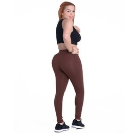 China JIGERJOGER Low rise Solid color blend Cotton Full Length Stretch Legging Women Yoga Brown coffee Pant sporty legging ankle tight supplier rose gold pants suppliers