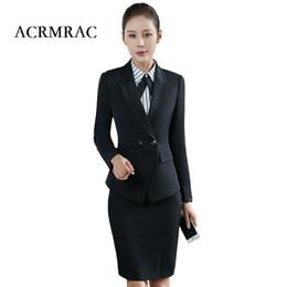 66789038ca6a ACRMRAC Donna nero Abbigliamento formale Completo maniche lunghe Pantalone  formale OL Slim colore adatto all abbigliamento business