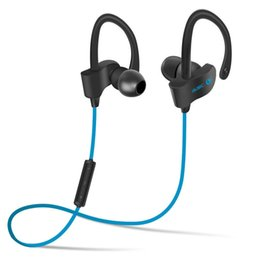 bluetooth types 2019 - Bluetooth Earphones Headphones Earbuds 4.1 Wireless Ear Hook Type Stereo Headset With Volume Control+Microphone For Gym