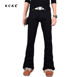 black zipper boots mens 2018 - Jeans Slim 2017 New Mens Black Flare Jeans Brand Boot Cut Gental Man BootCut Male Classic Denim 27-38 discount black zip
