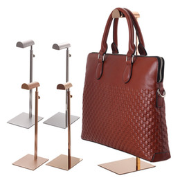 Hair Rack NZ - Drawing treatment Surface mirror surface Handbag holder Display Rack Women Bag hair hat holder rack hook Display showing Stand LX0791
