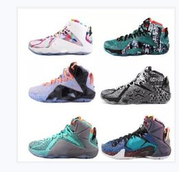 best service 1519a 95ff3 High Quality Athletic LeBron 12 Elite Basketball Shoes Men What The Black  White Metallic Gold Multi Sneaker