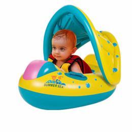 Anillo de Natación del Bebé Juguetes de Baño Inflable de Seguridad Portátil  Ajustable Sombrilla Flotador para niños Agua Deporte Seat Barco Anillo de  ... 9d319929a16