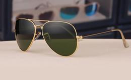 China Glasses Sunglasses Australia - hot gift gold 58mm case china luxury fashion brand new Glass lens Men Women pilot Sunglasses Sport Sun glasses With box