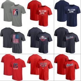 702664668f1 2018 All Star Game T-shirt Mens American National League Team World USA Baseball  Jerseys Red Navy Grey Fast Shipping