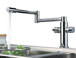 Wholesale fold Kitchen Faucet Extension Hot and Cold Water Kitchen Faucet Mixer Tap Sink Torneira de Cozinha BF033