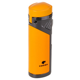 $enCountryForm.capitalKeyWord UK - COHIBA Fashion High-Grade Windproof Lighter Torch Jet Flame Refillable Red Flame Inflatable Four Flame Lighter Gas Lighter