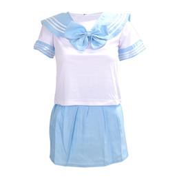 China Japanese School Uniform Dress Cosplay Anime Girl Lady Lolita Blue cheap japanese girl uniforms suppliers