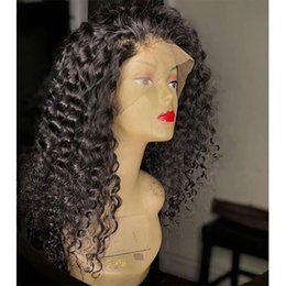 $enCountryForm.capitalKeyWord Australia - 180% Density Kinky Curly Full Lace Human Hair Wigs with Baby Hair Malaysian Remy Hair Curly Lace Front Wigs with Natural Hairline
