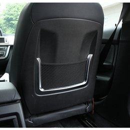 ABS Seat Backrest Frame Decoration Cover Trim 2pcs For BMW 1 2 3 4 Series 3GT F20 F30 Car Styling Interior Accessories
