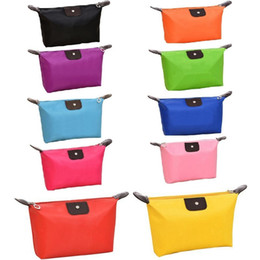 Discount wired bags - 10 Candy Colors Cheapest Folding Storage Bag Waterproof Wash Bag Fashion Cosmetic Bags Large Capacity Free shipping
