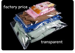$enCountryForm.capitalKeyWord Australia - 50pcs transparent Plastic Storage Bag Ziplock Travel Bags Zip Lock Valve Slide Seal Packing Pouch For Cosmetic Clothing drop shipping custom