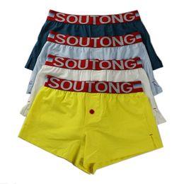 Natural Cotton Underwear Australia - Wholesale 4Pcs lot Mens Cotton Underwear Underpants Natural Staining Skin Care Boxers Soft Boxer Brief Low Rise Breathable