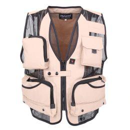 $enCountryForm.capitalKeyWord NZ - 2017 Men's Mesh Vests With Multi-pocket Photographer Vest Causal Style Vest Regular Solid Men vest Two Colors Plus Large 5XL High Quality